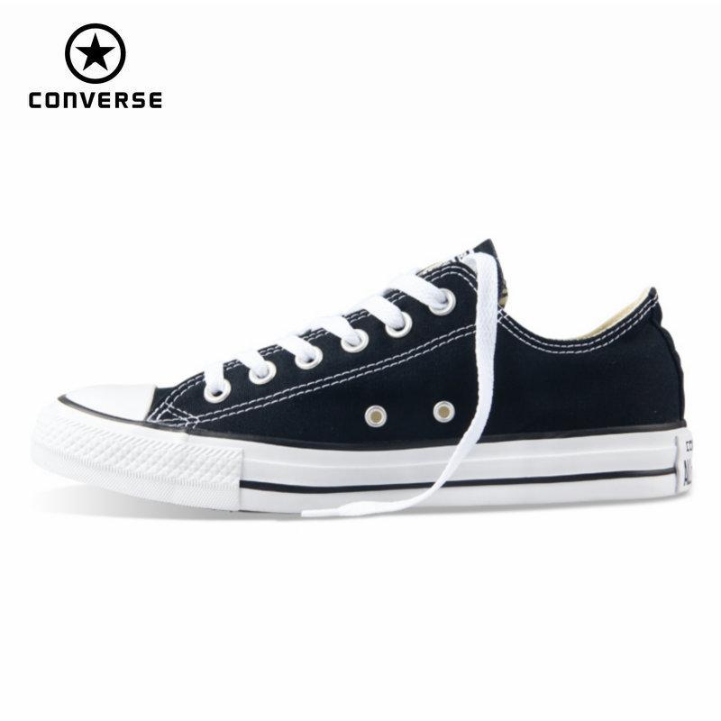 [해외]오리지널 뉴 컨버스 올스타 캔버스 신발 남성용 운동화 낮은 클래식 스케이트 보드 신발 블랙 컬러 무료 배송/오리지널 뉴 컨버스 올스타 캔버스 신발 남성용 운동화 낮은 클래식 스케이트 보드 신발 블랙 컬러 무료 배송