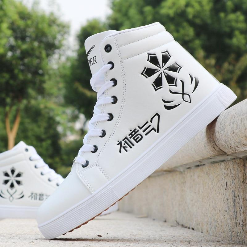 [해외]Mens Skateboarding Shoes Casual High Top Sneakers Sports Shoes Breathable Hip hop Shoes Street Shoes Chaussure Homme/Mens Skateboarding