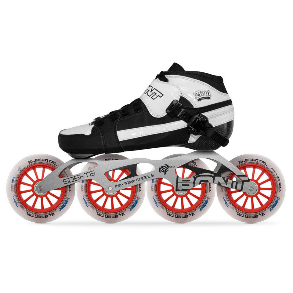 [해외]원래 bont 스케이트 추구 속도 인라인 스케이트 heatmoldable 탄소 섬유 부팅 6061 프레임 elemental 4*90/100/110mm 휠 patines/원래 bont 스케이트 추구 속도 인라인 스케이트 heatmoldable 탄