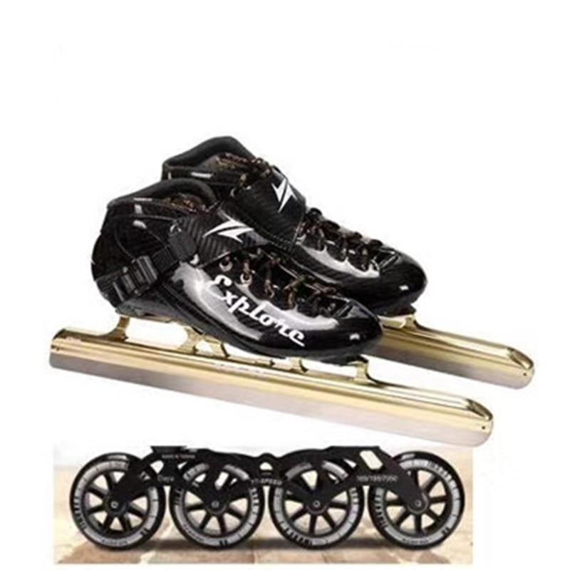 [해외]트랙 레이스 아이스 스케이트 신발 380 410 430 62 hrc 아이스 블레이드 합금 스케이트베이스 탄소 섬유 스피드 부츠 스니커즈 스키 파틴 롤/트랙 레이스 아이스 스케이트 신발 380 410 430 62 hrc 아이스 블레이드 합금 스케