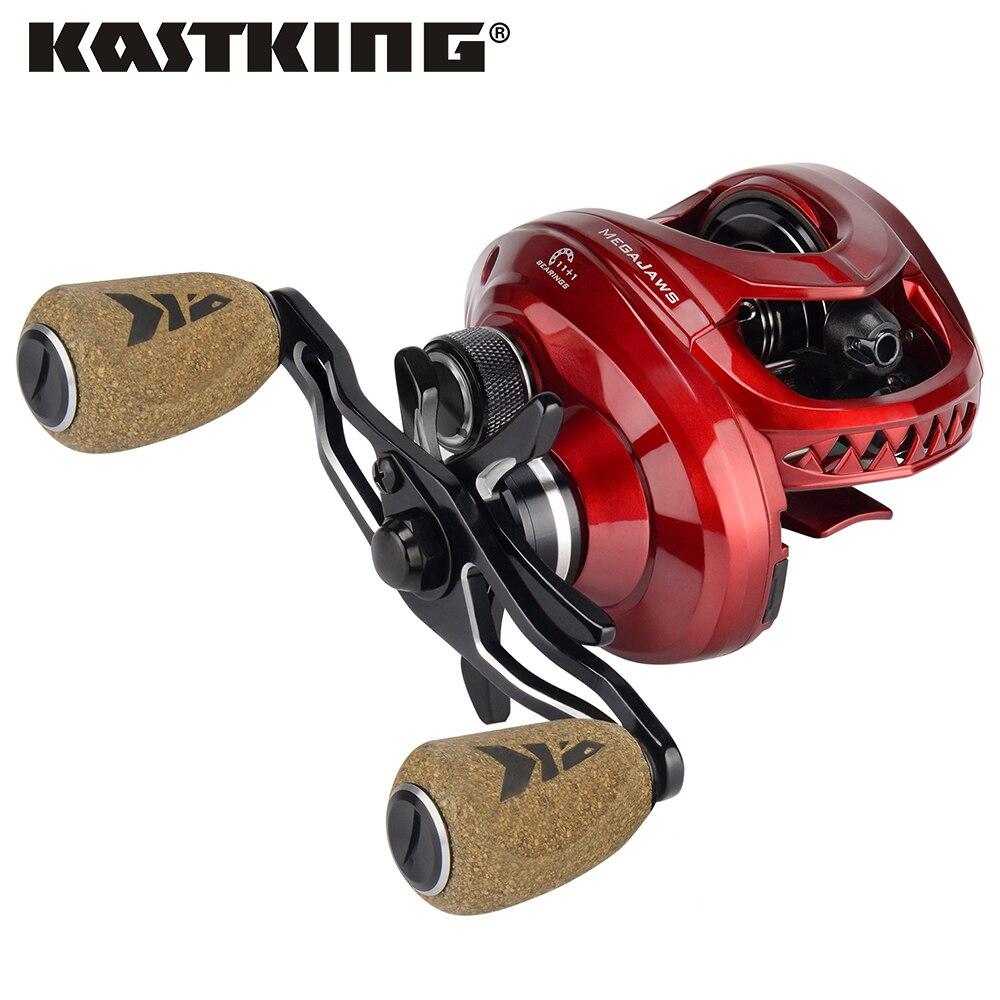 [해외]Kastking megajaws baitcasting reel 최대 드래그 8 kg 11 + 1 bbs 낚시 릴 (4 gear ratios 포함) 5.4: 1  9.1: 1 낚시 코일/Kastking megajaws baitcasting ree