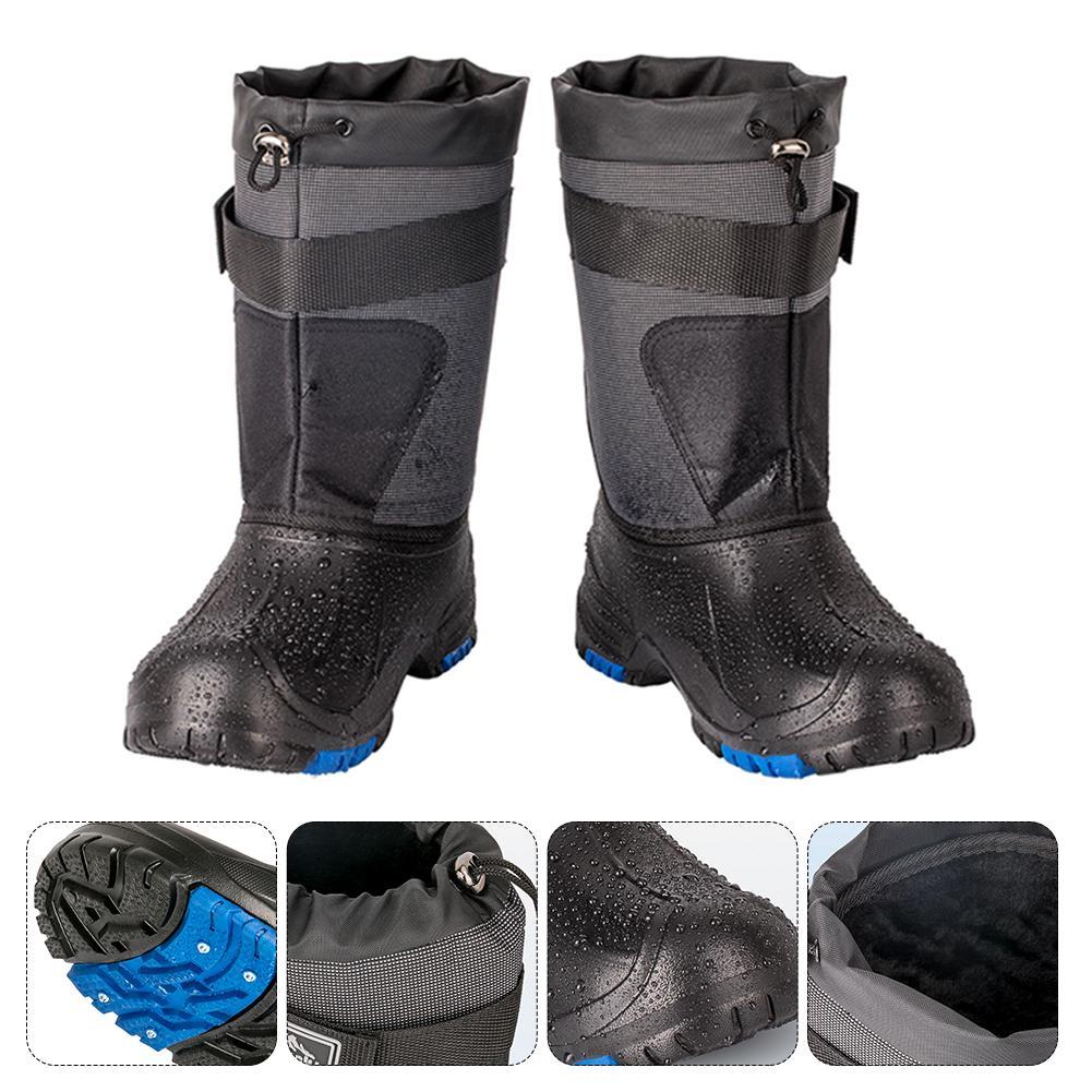 [해외]방수 비 슬립 낚시 신발 가을과 겨울 봄 따뜻한 낚시 신발 얼음 낚시 바다 낚시 부츠 더블 레이어/방수 비 슬립 낚시 신발 가을과 겨울 봄 따뜻한 낚시 신발 얼음 낚시 바다 낚시 부츠 더블 레이어