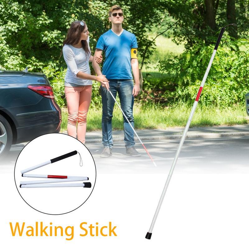 [해외]접이식 블라인드 가이드 스틱 시각 장애인 목발 지팡이 블라인드 워킹 스틱 워커 알루미늄 쉬운 접기/접이식 블라인드 가이드 스틱 시각 장애인 목발 지팡이 블라인드 워킹 스틱 워커 알루미늄 쉬운 접기