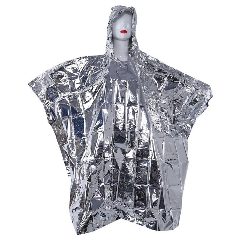 [해외]Multi-functional Foil Poncho Raincoat Waterproof Outdoor Survive Rescue Blanket/Multi-functional Foil Poncho Raincoat Waterproof Outdoor Survive R
