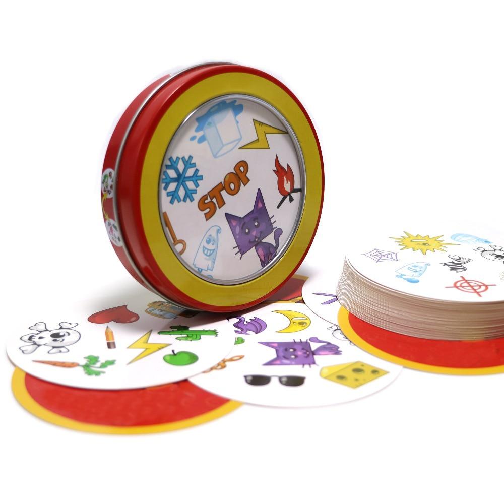 [해외]2019 spot symbol cards game education toysmetal box English version for family activities party board game/2019 spot symbol cards game education t