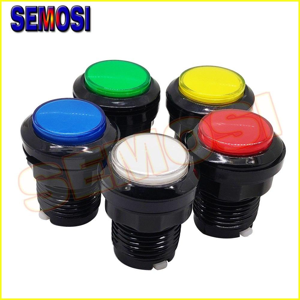 [해외]10pcs / Lot 32mm Black Circle Round  Illuminated Arcade Push Button12V LEDMicroswitch for Arcade Replacement Parts/10pcs / Lot 32mm Black Circle R