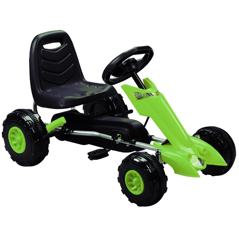 [해외]키즈 4 휠 라이딩 스티어링 휠, 3-8 세 어린이 페달은 핸드 브레이크로 카트 이동/키즈 4 휠 라이딩 스티어링 휠, 3-8 세 어린이 페달은 핸드 브레이크로 카트 이동